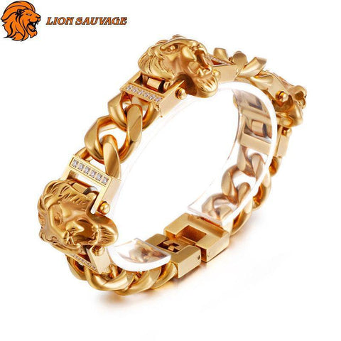 Bracelet Lion Association Royale en Acier