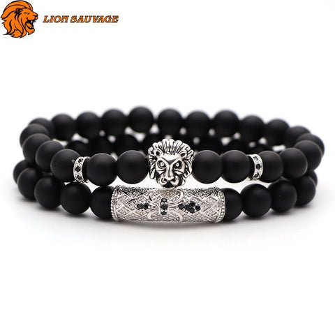 Bracelet Lion Double Perle