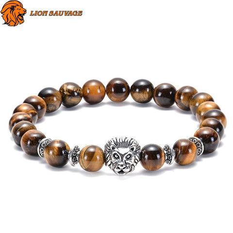 Bracelet Lion Male Perle