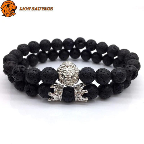 Bracelet Lion Protection Perle