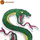 Broderies du Patch Tête de Serpent Thermocollant