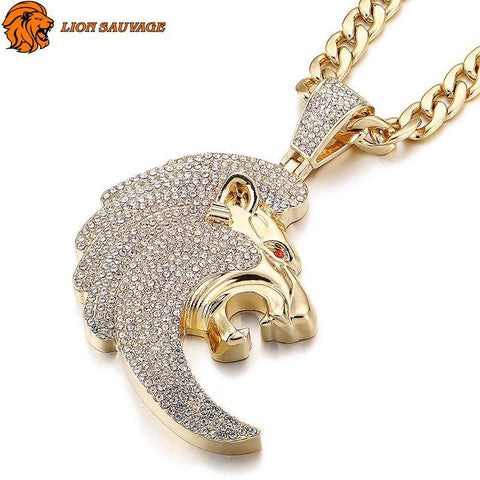 Collier Lion King Acier