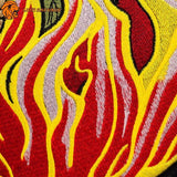 Coutures du Patch Cobra Flamme Thermocollant