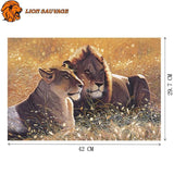 Dimensions du Puzzle Garde du Roi Lion 1000 Pieces