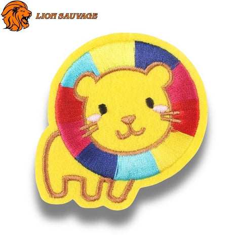 Patch Lion Multicolore Thermocollant