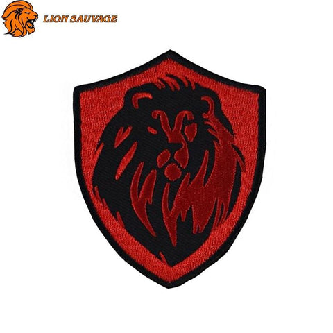 Patch Tete de Lion Rouge Thermocollant