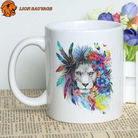Mug Lion Couronne