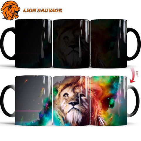 Mug Thermosensible Lion Chasseur