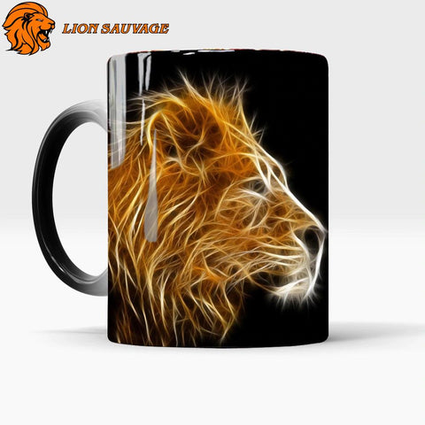 Mug Thermosensible Lion en Feu