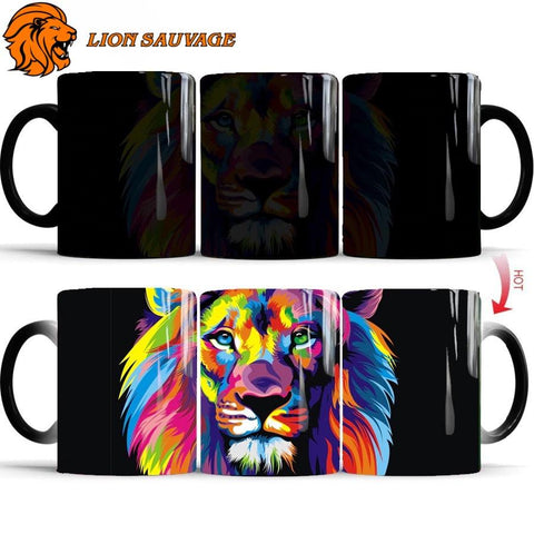 Mug Thermosensible Lion Multicolore