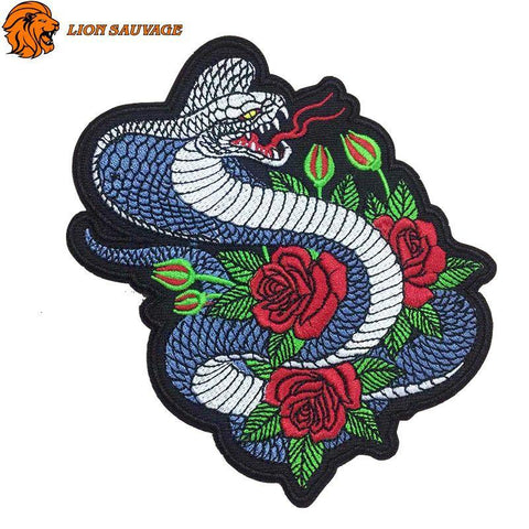 Patch Cobra Fleuri Thermocollant