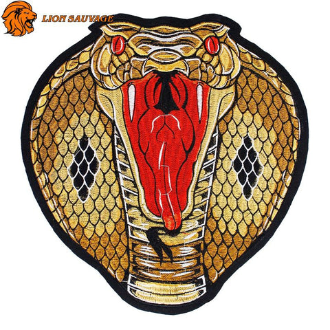Écusson Cobra Royal à coudre Lion Sauvage