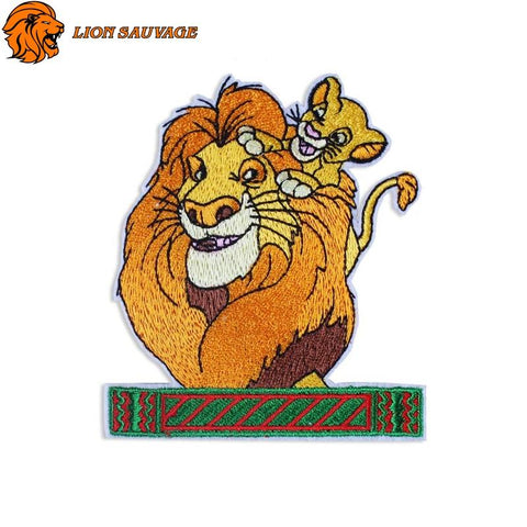 Patch Lion et Lionceau Thermocollant