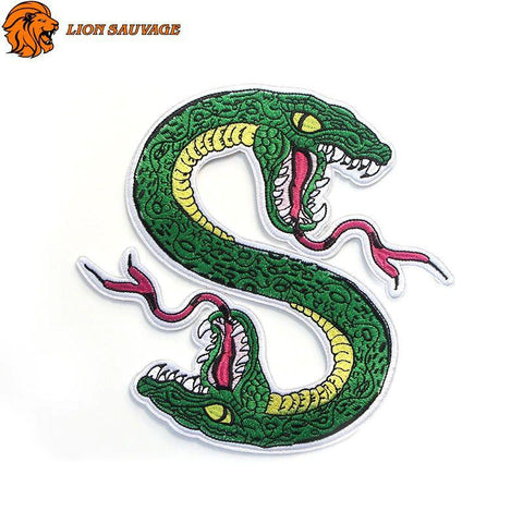 Patch Tête de Serpent Thermocollant