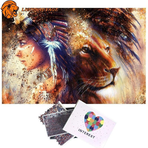 Puzzle Lion Majestueux 1000 Pieces