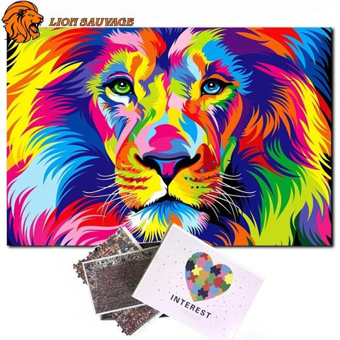 Puzzle Lion Multicolore 500 Pieces