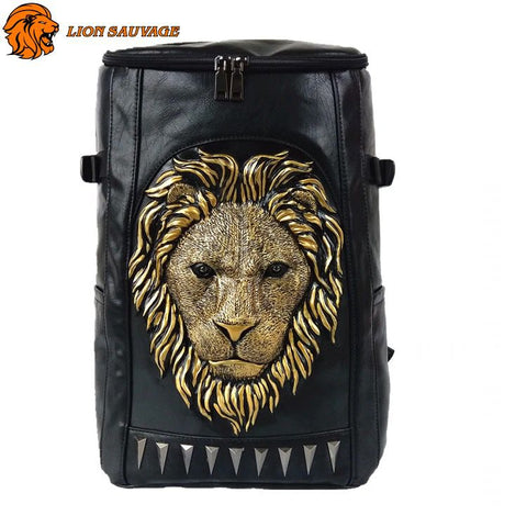Sac à Dos King Lion Motard en cuir