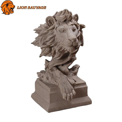 Statue Lion Antique en résine