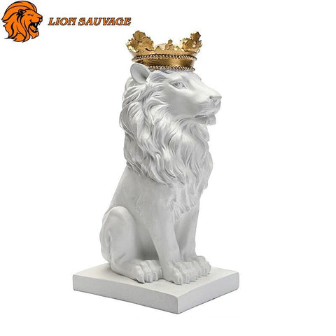Sculpture Lion Blanc