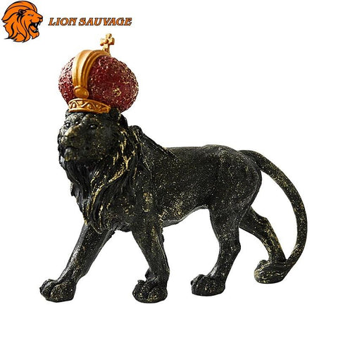 Sculpture Lion Couronne de Lion Sauvage