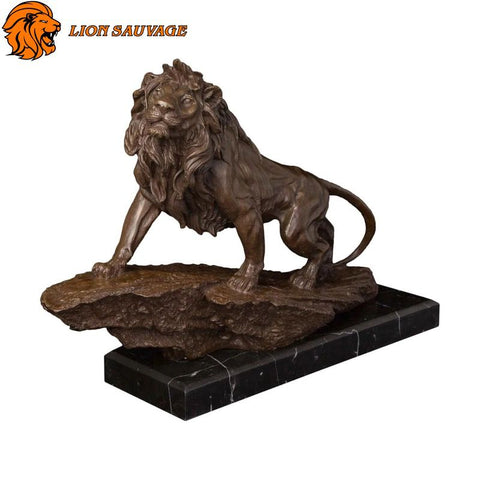 Statue Lion Marbre Rectangle