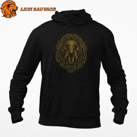 Sweat-shirt Lion Sombre Lion Sauvage