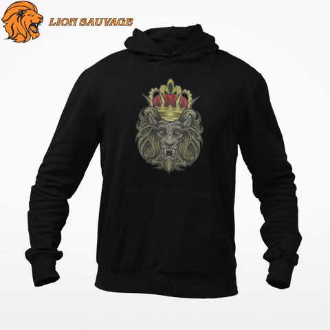 Sweat Roi Lion Couronne de Lion Sauvage