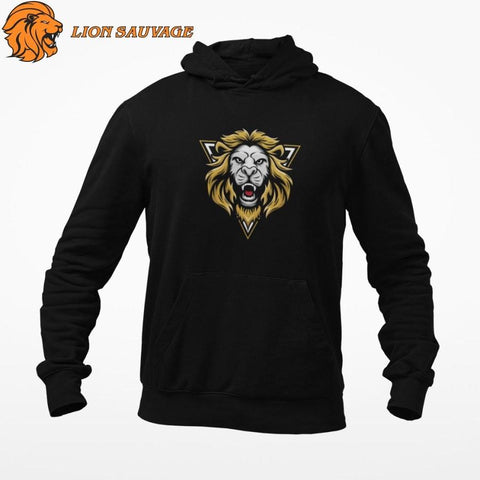 Sweat Roi Lion Indomptable de Lion Sauvage