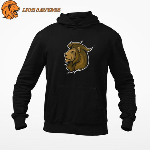 Sweat Roi Lion Logo de Lion Sauvage