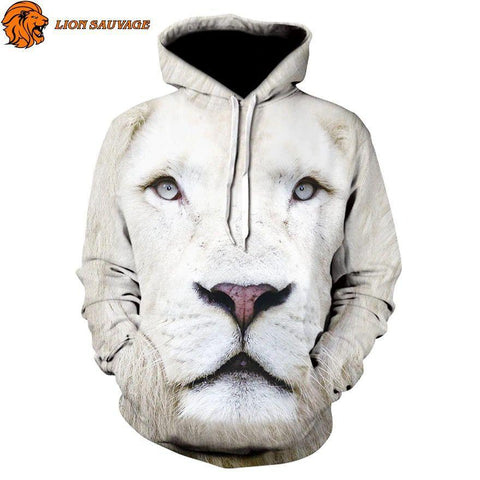 Sweat Lion Blanc