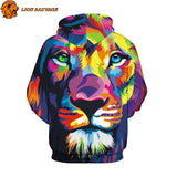 Sweat Capuche Lion Multicolore