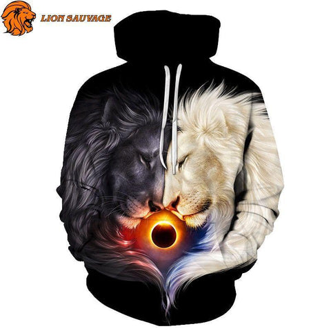 Sweat Lion Signe Astrologique de Lion Sauvage