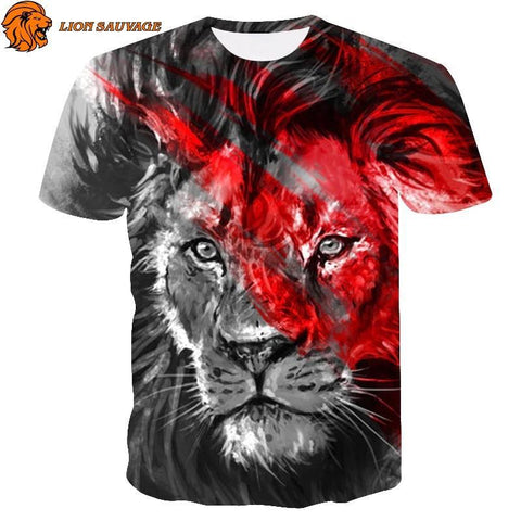 T-Shirt Lion Felin