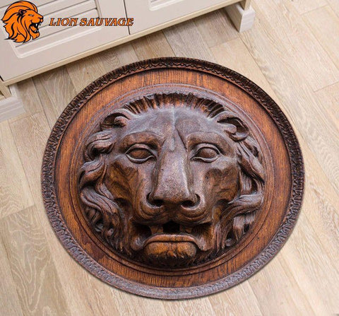 Tapis Lion Antique