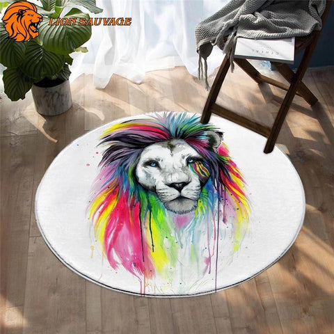 Tapis Lion Multicolore
