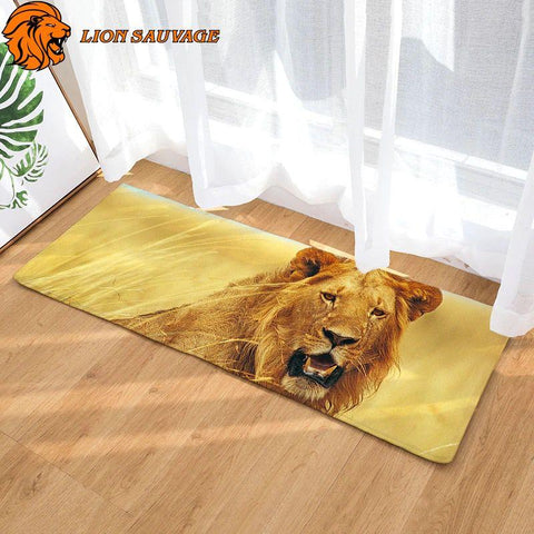 Tapis Lion Sauvage Grand Format