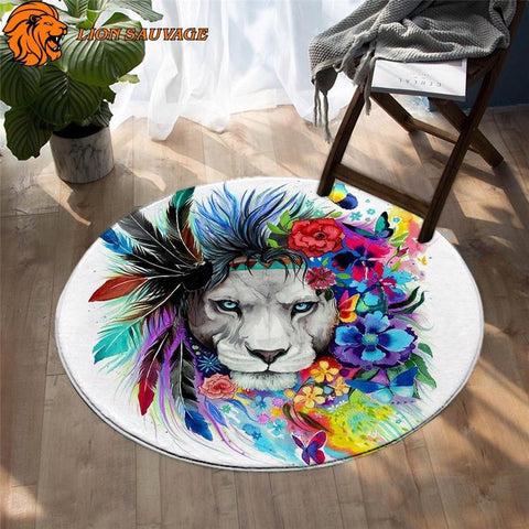 Tapis Tete de Lion Multicolore