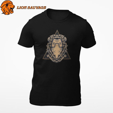 T-Shirt Lion Bandit Lion Sauvage