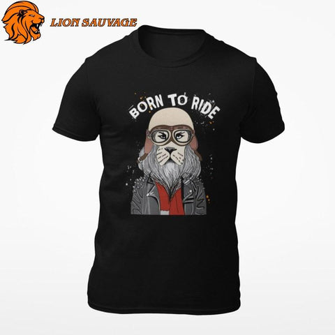 T-Shirt Lion Motard Lion Sauvage
