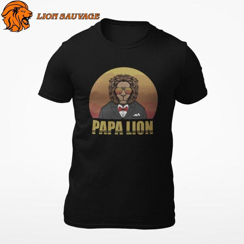 T-Shirt Lion Papa Lion Sauvage