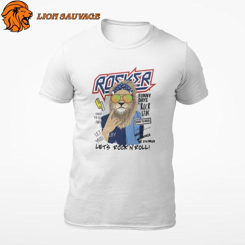 T-Shirt Lion Star Lion Sauvage