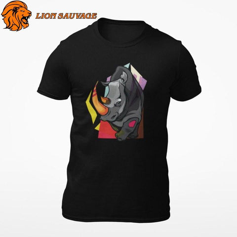 T-Shirt Rhinocéros Multicolore Lion Sauvage
