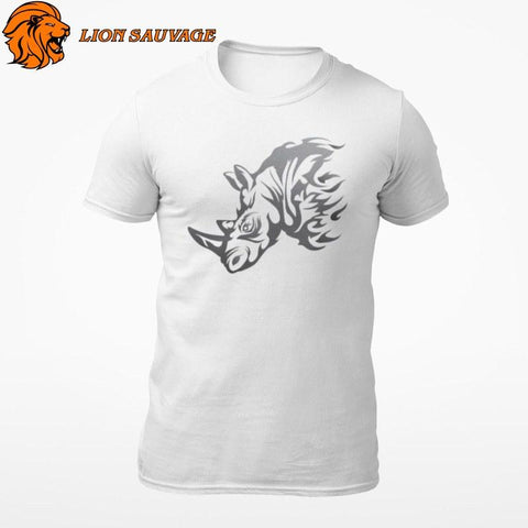 T-Shirt Rhinocéros Tribal Lion Sauvage