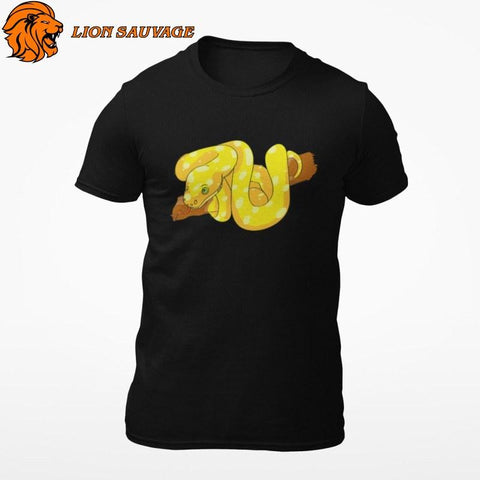 T-Shirt Serpent Jaune Lion Sauvage