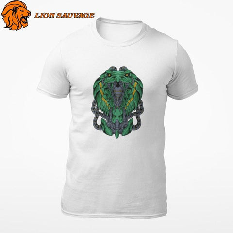 T-Shirt Serpent Machine Lion Sauvage