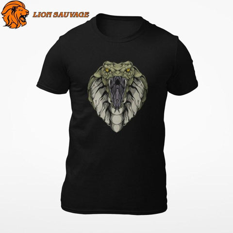 T-Shirt Serpent Mamba Noir Lion Sauvage