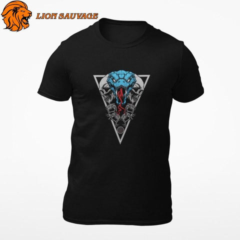 T-Shirt Serpent Biker Moderne Lion Sauvage