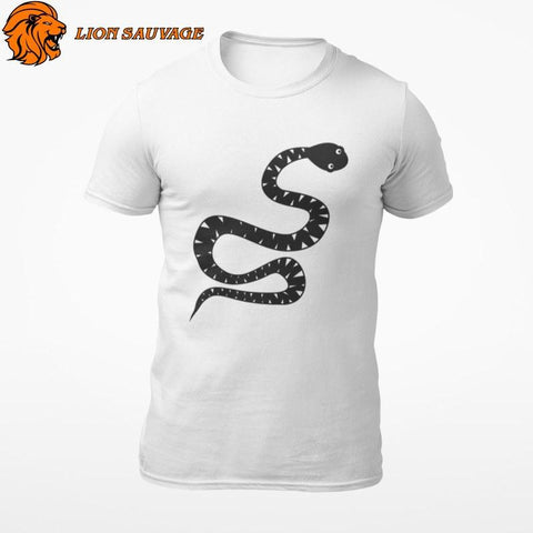 T-Shirt Serpent Noir Lion Sauvage