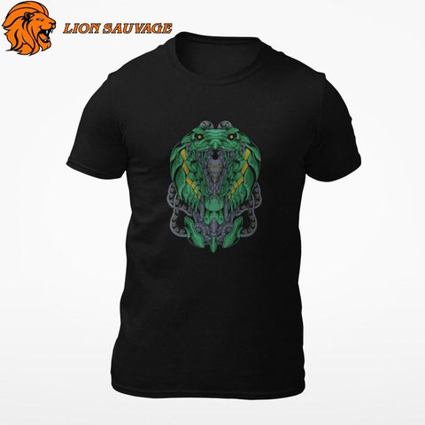 T-Shirt Serpent Robotique Lion Sauvage