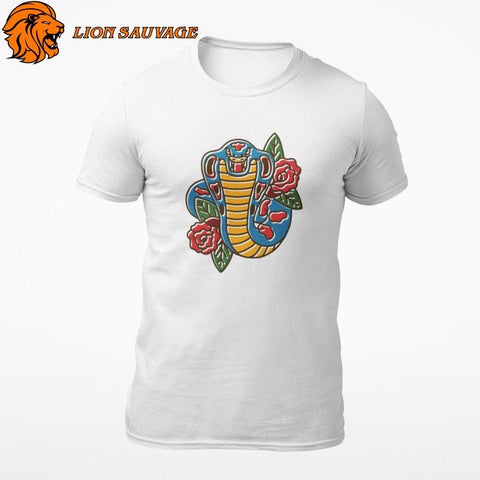 T-shirt Serpent Rose Piquante